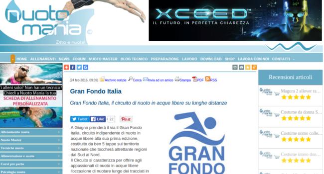 Gran Fondo Italia su Nuotomania.it - 24 Feb 2016