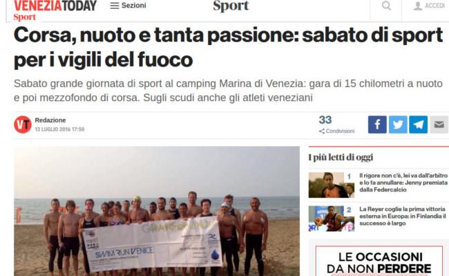 Notizia del VeneziaToday sul Gran Fondo Venezia 2016