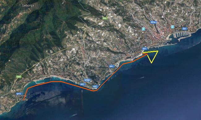 Race Tracks of Gran Fondo Sanremo 2018