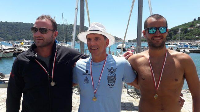 Podio Gran Fondo Cinque Terre 2018 di nuoto in acque libere