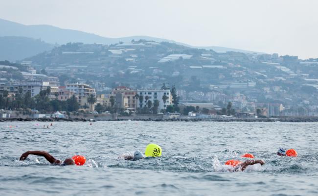 Gran Fondo Sanremo 2018, gara di nuoto in acque libere, primo chilometro