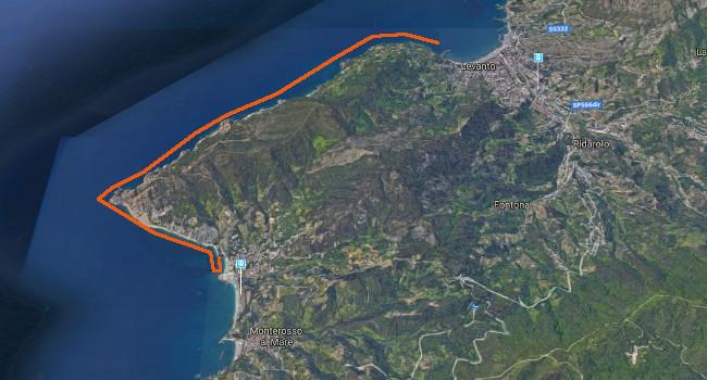 Tracciato Gran Fondo Cinque Terre 2019
